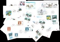 Groenland - 93 verschillende eerstedag enveloppen