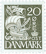 Denmark - AFA no. 204A - Engraved