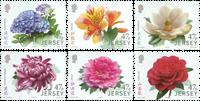 Jersey - Havens blomster Kina venskab - Postfrisk sæt 6v