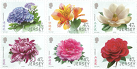 Jersey - Garden flowers Friendship China - Mint set 6v