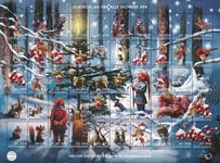 Danmark - Julemærket 2016 - Postfrisk ark med 50 mærker