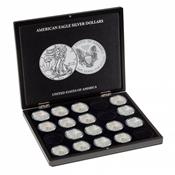 Møntkassette VOLTERRA til sølvmønter - 20 American  Eagle - Ø 41 mm / Ø 47,5