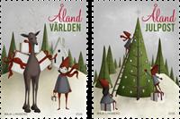 Åland - julen 2016 - Postfrisk sæt 2v