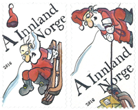 Norway - Christmas 2016 2v * - Mint stamp