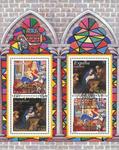 Tyskland og Spanien - Julen 2001 - Stemplet miniark