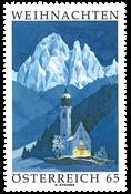 Østrig - Advent 2009 - Postfrisk frimærke