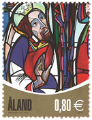 Åland - Church window - Mint stamp