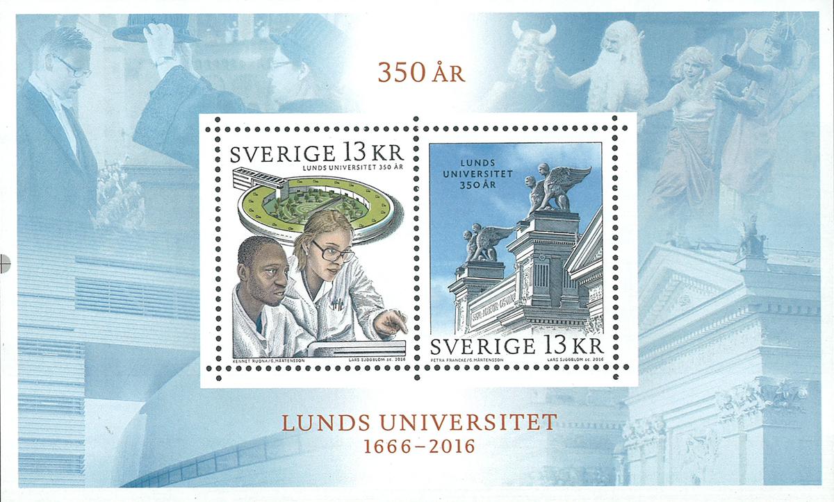 Sverige - Lund Universitet - Postfrisk miniark
