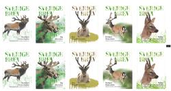 Sverige - Skovens hjortedyr - Postfrisk hæfte