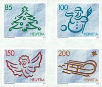 Zwitserland - Kerstmis 2016 - Postfrisse serie van 4