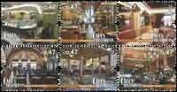 Portugal - Historiske cafeer - Postfrisk sæt 6v
