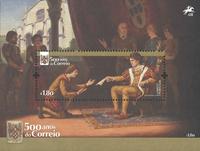 Portugal - 500 års postjublæum - Postfrisk miniark