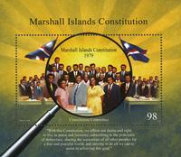 Marshall Øerne - Grundlov 1979 - Postfrisk miniark