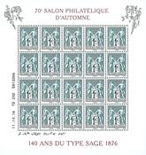 France - Autumn Stamp Show - Mint souvenir sheet