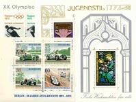 Vesttyskland - 12 postfriske miniark