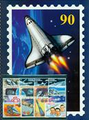 50 francobolli Spazio con classificatore A4