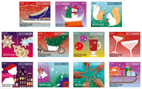 Nederland - Kerstzegels 2016 - Postfrisse serie van 11