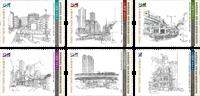 Hong Kong - Museum samlinger - Postfrisk sæt 6v