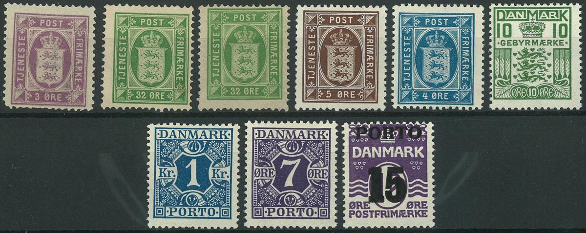 Danmark - Tjeneste/Porto