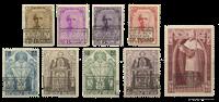 Belgien 1933 - OBP 374A-374K - Ubrugt