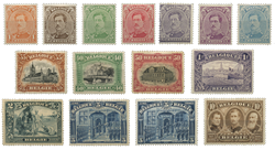 Belgien 1915 - OBP 135-149 - Ubrugt