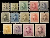 Belgien 1919 - OBP 165-178 - Ubrugt