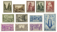 Belgien 1933 - OBP 363-374 - Ubrugt