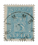 Norge 1863-66 - AFA 8b - Stemplet
