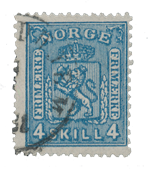 Norway 1867-68 - AFA 14 - Cancelled