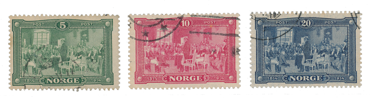 Norge 1914 - AFA 89/91 - Stemplet