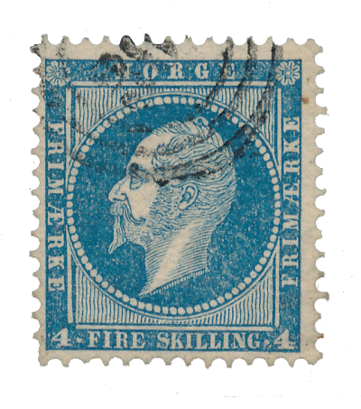 Norge 1856-57 - AFA 4 - Stemplet