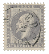 Norway 1856-57 - AFA 3 - Cancelled