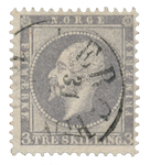 Norge 1856-57 - AFA 3 - Stemplet