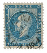 Norway 1856-57 - AFA 4a - Cancelled