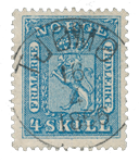 Norge 1863-66 - AFA 8 - Stemplet