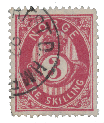 Norge 1872-75 - AFA 18 - Stemplet