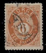 Norway 1872-75 - AFA 20 - Cancelled