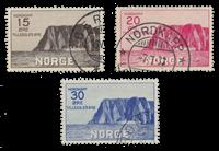 Norja 1930 - AFA 159/61 - Leimattu