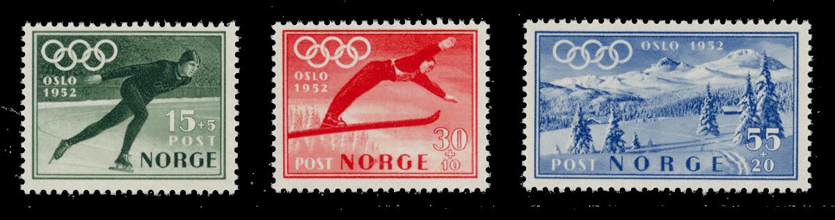 Norge 1951 - AFA 381/83 - Postfrisk