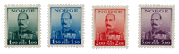 Norway 1937-38 - AFA 192/95 - Mint