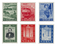 Norway 1954 - AFA 398/403 - Mint
