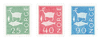Norway 1963 - AFA 496 + 498 + 501 - Mint