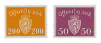 Norway 1946-47 - AFA P58/59 - Mint