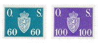 Norway 1951-52 - AFA P66/67 - Mint