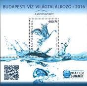 Ungarn - Vand topmøde 2016 - Postfrisk miniark
