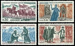 Andorra fransk YT 167-70 Fransk Andorra 1963-64 Historiske begivenhed
