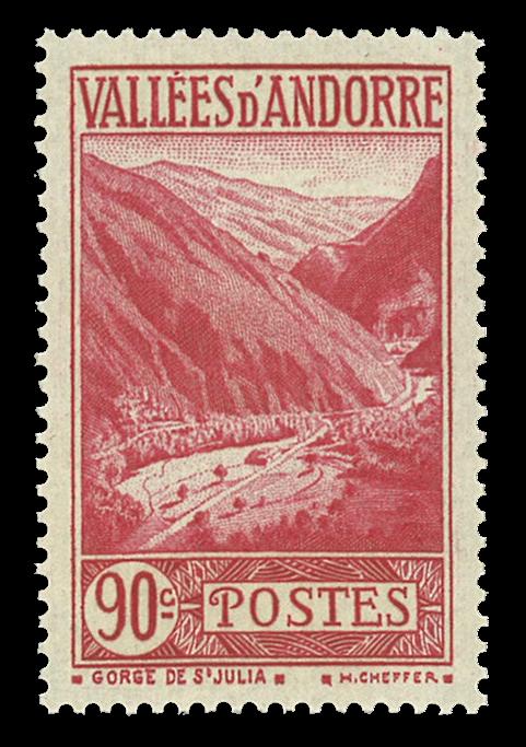 Andorra fransk YT 38 Fransk Andorra Landskaber