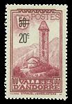 Andorra fransk YT 46 Fransk Andorra 1935,Frimærke 1923-33 overtryk