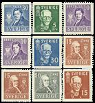 Sverige Postfrisk - 9 frimærker