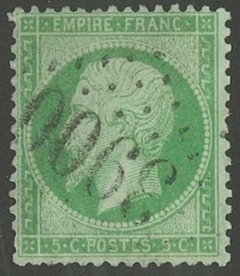 Frankrig - YT 20 - Stemplet